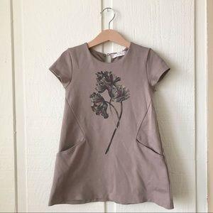 Zara Girls Floral Short Sleeve Shift Dress